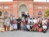 شاهد زيارة أول فوج فرنسى للمتحف المصرى بعد استئناف حركة السياحة