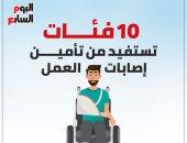 10 فئات تستفيد من تأمين إصابات العمل.. إنفوجراف