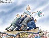 ترامب الابن يسخر من جو بايدن بدعم وسائل الإعلام له فى الانتخابات الأمريكية.. صور
