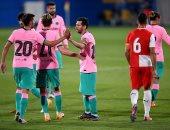 ميسي يقود برشلونة للفوز على جيرونا وديا بثلاثية.. فيديو