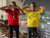 يوسف وإسماعيل يشاركان صحافة المواطن بصورة تضامنا مع مرض مؤمن زكريا