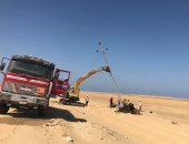 تنفيذ أعمال توصيل الكهرباء لمنطقة الفرما ومد طرق جديدة  بسيناء
