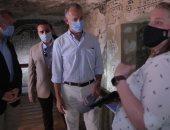 """سفير واشنطن بالقاهرة """"مذهول"""" من جهود الحفاظ على الآثار بمقبرة طيبة بالأقصر"""