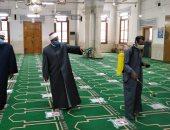 الأوقاف تواصل حملة نظافة وتعقيم المساجد.. وتؤكد: خدمة بيوت الله شرف.. صور