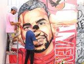 حب الناس رزق .. شقيقان يبدعان جرافيتى لمؤمن زكريا.. ألبوم صور
