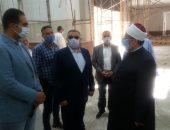 وزير الأوقاف يتفقد إنشاءات مسجد الدهار الكبير استعدادا لافتتاحه قريبا.. صور