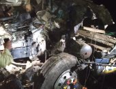 مصرع شخص وإصابة 3 أخرين بحادث تصام سيارتى نقل ثقيل بقنا