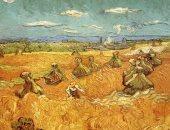 شاهد لوحة حصاد القمح لـ الفنان العالمى فان جوخ
