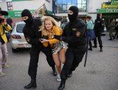 صور.. شرطة روسيا البيضاء تعتقل عشرات المتظاهرين في مينسك