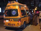إصابة 9 عمال فى حادث تصادم سيارتين بالعلمين فى مطروح