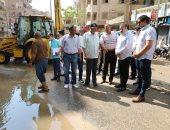 محافظ المنوفية : يتابع إصلاح خط مياه بشبين الكوم