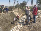 لجنة شئون القرى ببنى سويف تتابع المشروع القومى لتبطين وتأهيل الترع