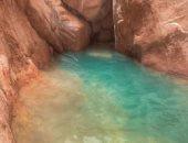 مياه بالألوان وشلالات وحمام سباحة طبيعي في حضن الجبل بوادى الوشواشى..ألبوم صور