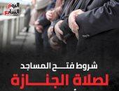 شروط فتح المساجد لصلاة الجنازة بدءاً من اليوم.. إنفوجراف