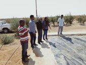 """رئيس مدينة نخل بشمال سيناء يتفقد المزرعة النموذجية المتكاملة بـ""""الرواق""""..صور"""