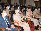 وزير الدفاع يشهد مناقشة البحث الرئيسى لأكاديمية ناصر العسكرية العليا.. صور