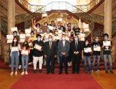 """صور.. احتفالية بـ""""قصر الزعفران"""" لتكريم طلاب جامعة عين شمس المتميزين"""