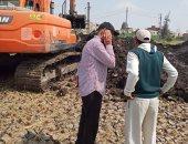 حملة لإزالة التعديات على تحويلة ادكو القديمة بالبحيرة لمواجهة السيول.. صور