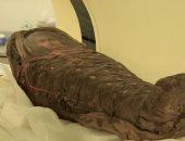 إعادة بناء وجه مومياء طفل مصرى عثر عليها قرب هرم هوارة.. صور
