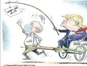 كاريكاتير.. ترامب يصطاد الناخبين بلقاح كورونا