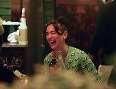 الضحكة لم تفترق وجه دوا ليبا فى سهرتها مع أنور حديد بنيويورك .. شوف الصور