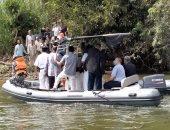 جولة باللانش لمحافظ القليوبية لتفقد الجزر المنخفضة بنهر النيل لطمأنة المواطنين
