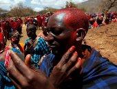 """حفل كل عشر سنوات.. ترقية رجال قبيلة """"الماساي"""" في كينيا من محاربين إلى شيوخ.. ألبوم صور"""