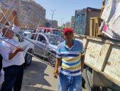 ضبط 42 حالة إشغال وإيقاف بناء مخالف بأحد المحلات بالإسكندرية