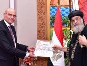 قداسة البابا تواضروس الثاني يستقبل قنصل مصر بملبورن بالمقر البابوى