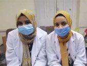 طالبتان بسوهاج تبتكران جهاز لاختبار كشف كورونا بالمنزل.. فيديو وصور