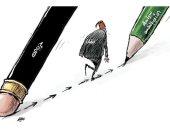 حزب الله يورط لبنان فى أزمات رغم سياسة النأى بالنفس فى كاريكاتير سعودى