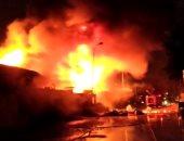 السيطرة على حريق بمخزن كرتون بالشركة المصرية للزجاج والبلور بمسطرد
