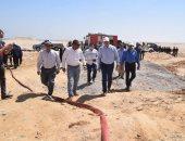 تقرير جامعة سوهاج يكشف اشتعال النيران فى بئر قرية بيت خلاف بسبب الغاز
