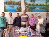 تكريم معلمى الأقصر الأزهرية للتربية الفنية بمعرض الإسكندرية.. صور
