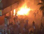 """حريق هائل فى محل أسماك غرب الإسكندرية دون إصابات """"صور"""""""