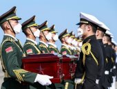 عودة رفات 117 جنديا صينيا من ضحايا الحرب الكورية
