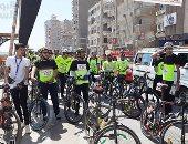 وزير الشباب يقود ماراثون للدارجات بمشاركة 100 شاب فى سوهاج.. فيديو وصور
