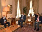 صور لقاء سامح شكرى وأمين سر اللجنة المركزية لحركة فتح
