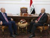 الرئيس العراقى يدعو لتضافر الجهود لتهيئة الأجواء المناسبة لإجراء الانتخابات