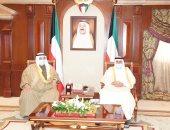 ولي العهد الكويتى يستقبل رئيس مجلس الأمة ورئيس الوزراء