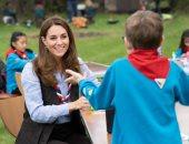 كيت ميدلتون فى زيارة لمجموعة كشفية غرب لندن للاحتفال بدورها كرئيسة للكشافة