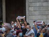 مظاهرات بكتالونيا احتجاجا على قرار المحكمة بتنحية رئيسه عن منصبه.. فيديو