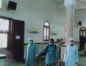 الأوقاف تواصل حملة تنظيف وتعقيم المساجد استعدادا لصلاة الجمعة.. صور