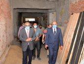 رئيس جامعة المنصورة يتفقد استعدادات المدن الجامعية للعام الدراسى الجديد