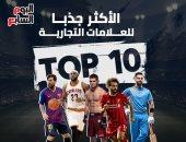 Top 10.. الرياضيون الأكثر جذبا للعلامات التجارية فى العالم.. إنفوجراف