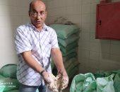 """ضبط مخبز بالإسكندرية بتهمة تهريب 25 شيكارة دقيق مدعم ووضع """"تراب"""" بدلا منه.. صور"""