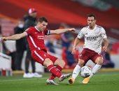 شوط سلبى بين ليفربول ضد آرسنال فى كأس رابطة المحترفين الإنجليزية