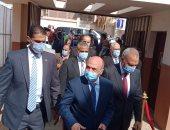وزير العدل ومحافظ القليوبية يصلان مقر افتتاح محكمة شبين القناطر بعد تطويرها