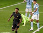 سلتا فيجو ضد برشلونة.. البارسا يتفوق بهدف فانى وطرد لينجليت بالشوط الأول