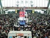 الصين تصدم العالم بزحام محطات القطارات بـ108ملايين مواطن فى 8أيام رغم كورونا
